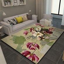ALITEXTILEBTOC Plus Size Carpet For Home 100% Wool Jacquard Hand Carved Floral Tapis Salon Rectangle Non-slip Parlor Soft