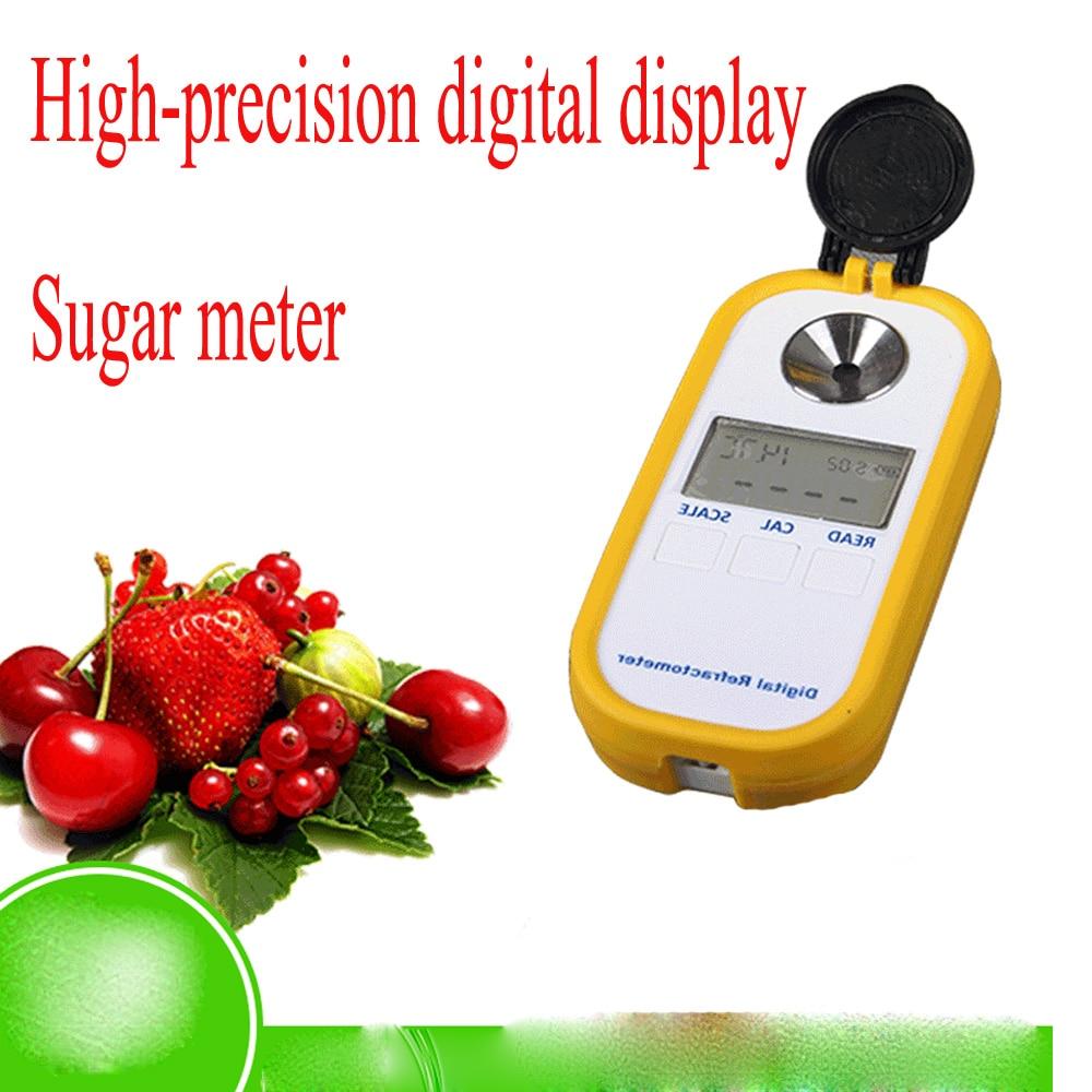 Portable sugar detector ,Sweetness Tester Fruit Refraction Tester ,electronic digital refractometer 0-50% Brix For Sugar fast arrival lb92t portable sweetness tester brix meter with measuring range 58 92%