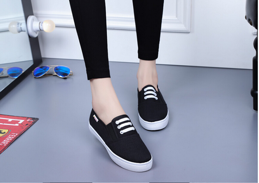 Free Shipping Spring and Autumn Men Canvas Shoes High Quality Fashion Casual Shoes Low Top Brand Single Shoes Thick Sole 7583 -  -  (3) -  -  -  -
