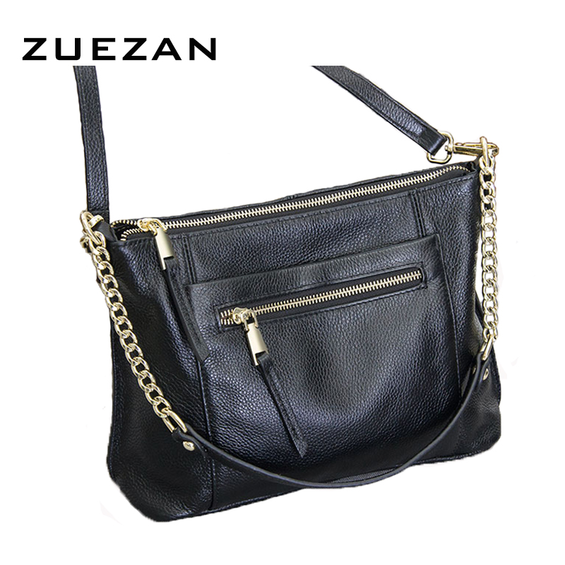 Us 34 65 Off New Messenger 100 Real Cow Skin Chains Whole Leather Strap Women S Genuine Shoulder Crossbody Bag Z621 In