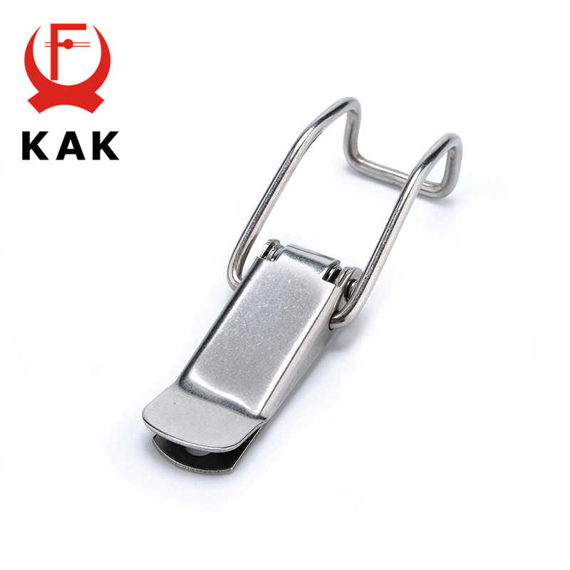 KAK  J115B Mild Steel Cabinet Boxes Hasp Lock 74*20 Spring Loaded Latch Catch Toggle Locks For Sliding Door Window Hardware