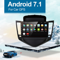 9 дюймов, двойной din автомобильный Радио мультимедийный плеер навигация gps Android 7,1 для Chevrolet CRUZE 2009 2014 без dvd плеера