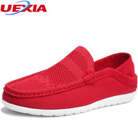 UEXIA 2018 Men S Casual Hollow Breathable Driving Shoes Classic Fashion Male Flats Flats Heel Footwear