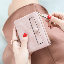 Fashion Women Wallet Small Female Purse Purse Lady Letter Snap Fastener Zipper Short Clutch Wallet Solid Vintage Matte Purse цена в Москве и Питере