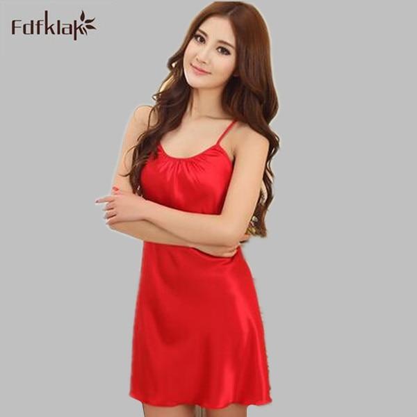 a3411bc3ab Seda del verano del vestido atractivo del sueño Vestidos para mujeres noche  Camisas dormir camisón homewear más tamaño m L XL XXL e0395 en Camisones y  ...