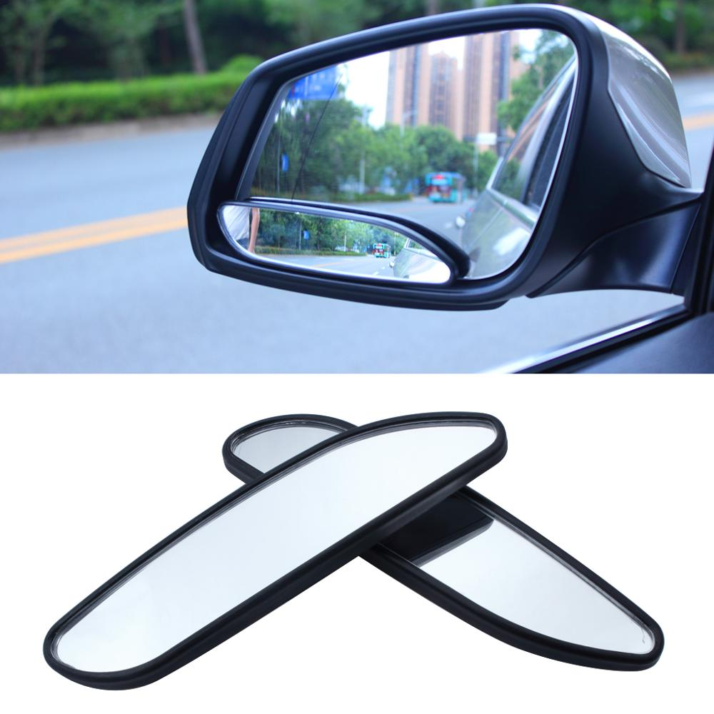 1Pair Auto Car Blind Spot Mirror Wide Rear View Safety Mirror Stick on Auxiliary Angle Adjustable Rectangle Parking Mirror car reversing auxiliary mirror car blind spot reversing rearview mirror support angle adjustment