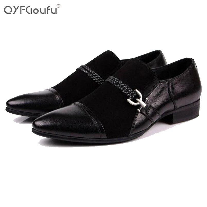 Italian Leather Wingtip Dress Shoes