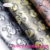 21pcs High Quality Metal Color Skull Embossed PU Leather Synthetic Leather 20x22cm Per Pcs CAN CHOOSE