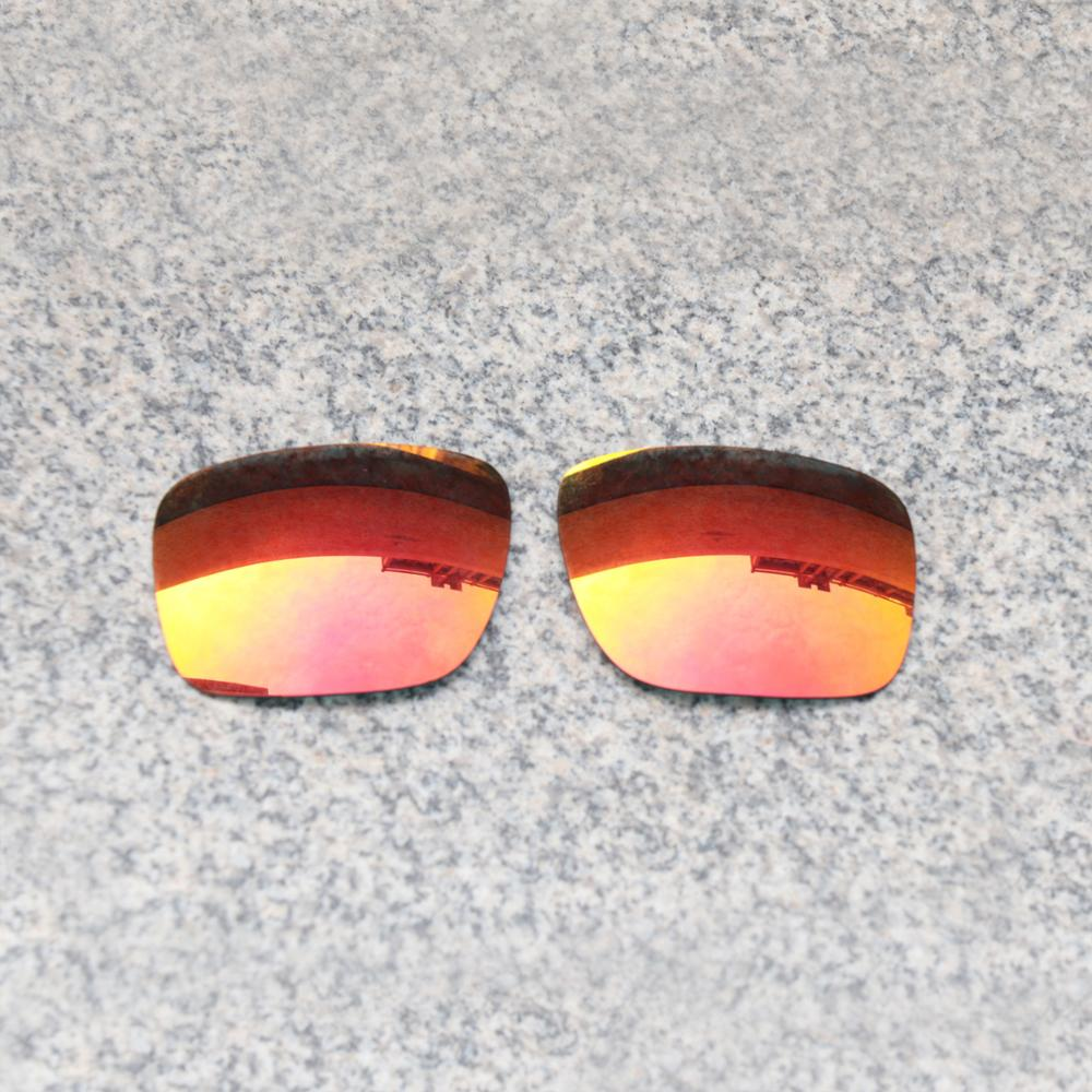E.O.S Polarized Enhanced ReplacementLensesforOakleyBig Taco Sunglasses - Fire Red Polarized Mirror