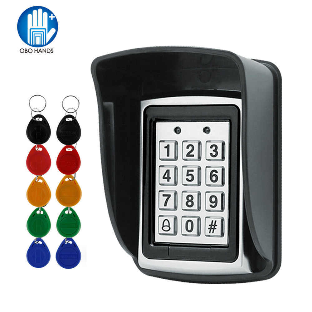 Detail Feedback Questions About Rfid Proximity Entry Lock Door Access Control System Wiring Diagram Metal Em Card Reader Keypad With 10 Em4100 Keyfobs Waterproof Protecter Cover For