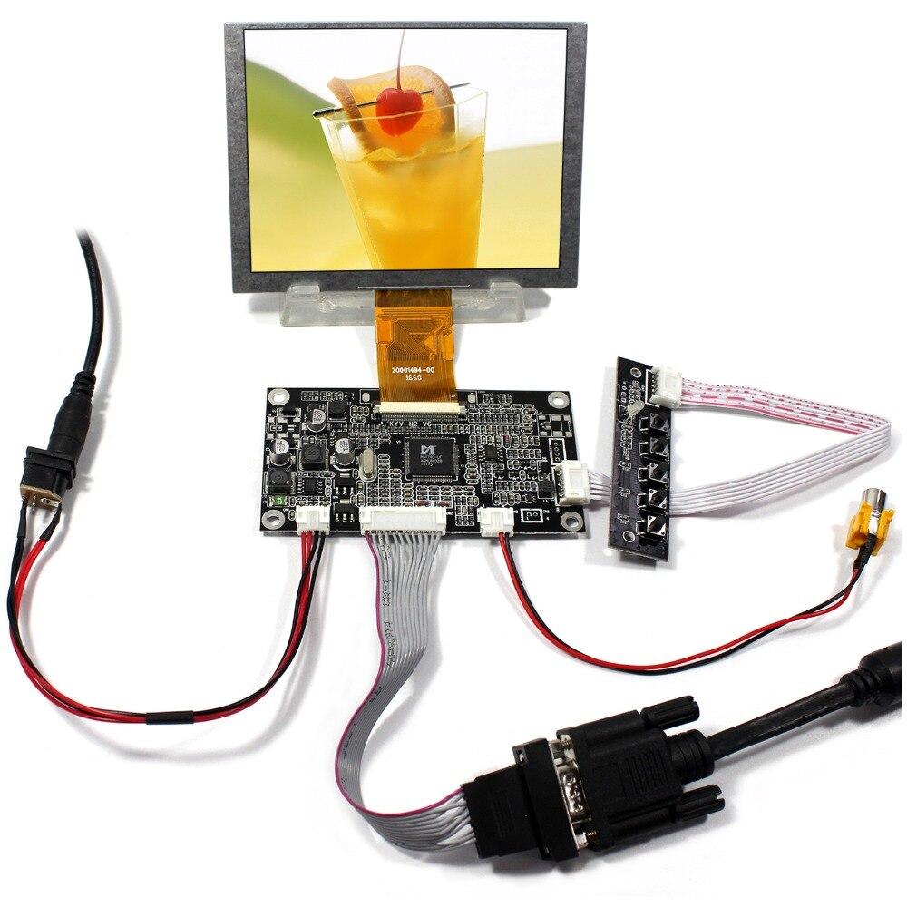 цена на VGA+AV LCD Controller Board With 5inch ZJ050NA-08C Replace 640x480 AT050TN22 LCD Screen