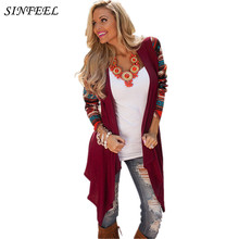5XL Long Cardigan Women Christmas Knitted Sweater Floral Print Long Sleeve Cardigans Casual Autumn Winter Tops 2017 Plus Size