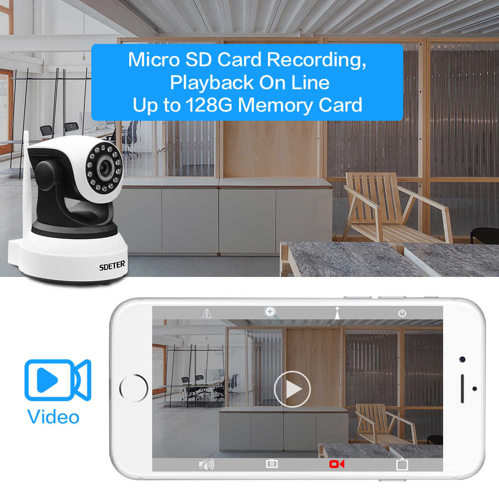 Cctv Home Sdeter 1080p Full Hd Wireless Security Ip Camera Wifi Cctv Home Surveillance Ir Night Vision Audio Recording Indoor Camera 2mp