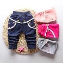 IENENS/От 0 до 3 лет длинные штаны для маленьких девочек, брюки, одежда повседневные штаны для маленьких девочек, весенне-осенние детские хлопковые штаны с заячьими ушками