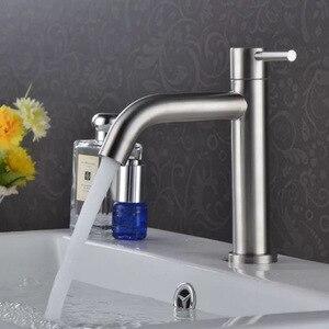 Image 1 - คุณภาพสูงสแตนเลสห้องน้ำก๊อกน้ำเดี่ยวอ่างล้างหน้าอ่างล้างหน้าก๊อกน้ำอุปกรณ์ห้องน้ำ