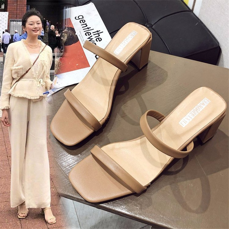 New Flat Outdoor Slippers Sandals Foot Ring Straps Roman Sandals Low Slope With Women's Shoes Low Heel Shoes Sandals