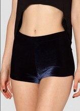 купить EAST KNITTING X-066 Velvet Deep Blue Bummers High Waist women Fashion shorts XXS XS S M L XL PLUS SIZE по цене 500.86 рублей