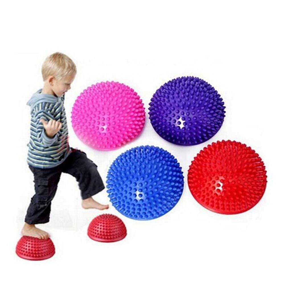 Adult Children Yoga Foot Half Round Massage Ball Cushion Spiky Balance Ball Domed Stability Pods Balance Fitness Hemisphere Ball