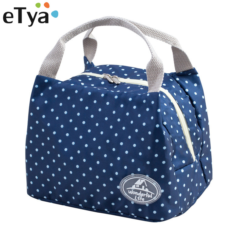 eTya New Portable Lunch font b Bag b font Thermal Insulated Snack Lunch Box Carry Tote