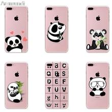 Arsmundi font b 2018 b font Panda Bamboo Heart Phone Cases for font b iPhone b