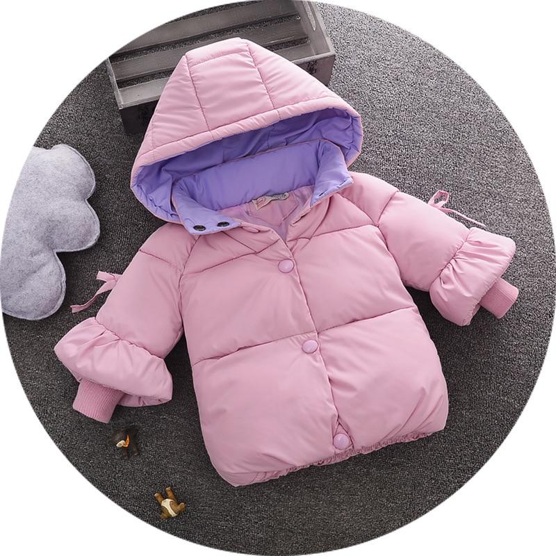 e29faa0bb Nuevo invierno grueso cálido algodón acolchado bebé niña abrigo niñas  cálida capucha chaqueta niños cálido traje niñas encantador abrigo ~  Premium Deal June ...