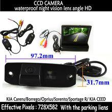wireless 4.3″ Color Car RearView Mirror Monitor + CCD HD Camera for for KIA Carens Borrego Oprius Sorento Sportage R KIA CEED