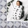 110*110CM!Organic Cotton Muslin Swaddle Blanket Newborn Baby bathtowels Gauze Blanket Soft Newborn Baby Swaddle Wrap Black White