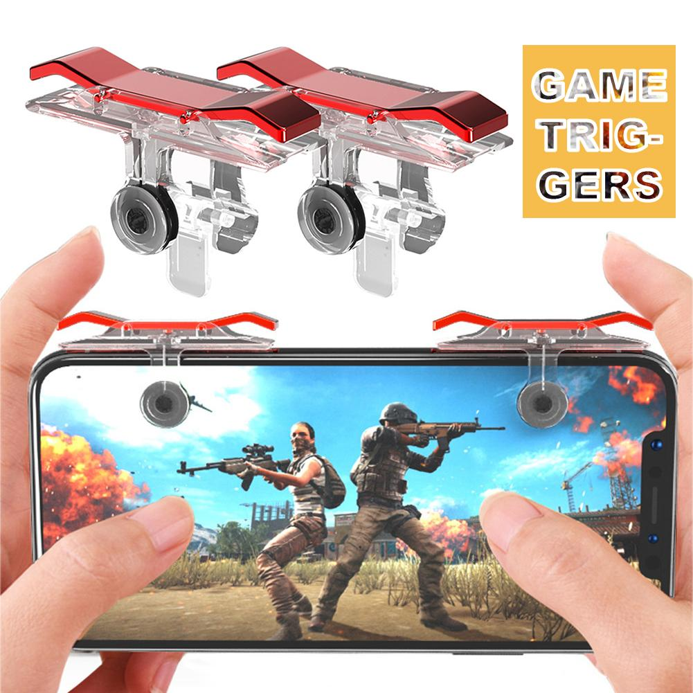 2Pcs PUBG Mobile Controller Gamepad Fire L1 R1 Trigger PUGB Mobile Game Pad Grip Phone Universal Game Triggers Accessories