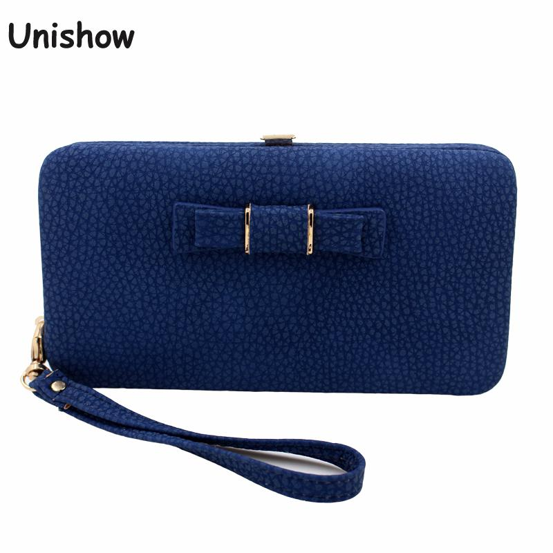 Fashion Women Bow Purse Wallet Female Famous Brand Card Holders Cellphone Pocket Gifts For Women Money Bag Clutch free shipping 2017 new fashion purse wallet female famous brand card holders cellphone pocket gifts for women money bag clutch