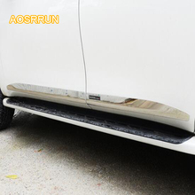 AOSRRUN Stainless steel body trim door anti-collision bar For Nissan Patril y62 2017 2018 car styling