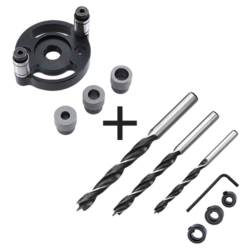 Accurate Woodworking 6/8/10mm Hole Jig Centering Vertical Centerline Drill Positioner Kit Accessories New