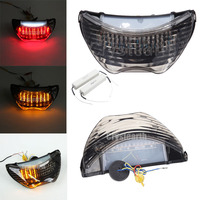 Motorcycle Smoke LED Taillight With Integrated Turn Signals Lamp For Honda CBR600 F4 F4i CBR900RR CBR