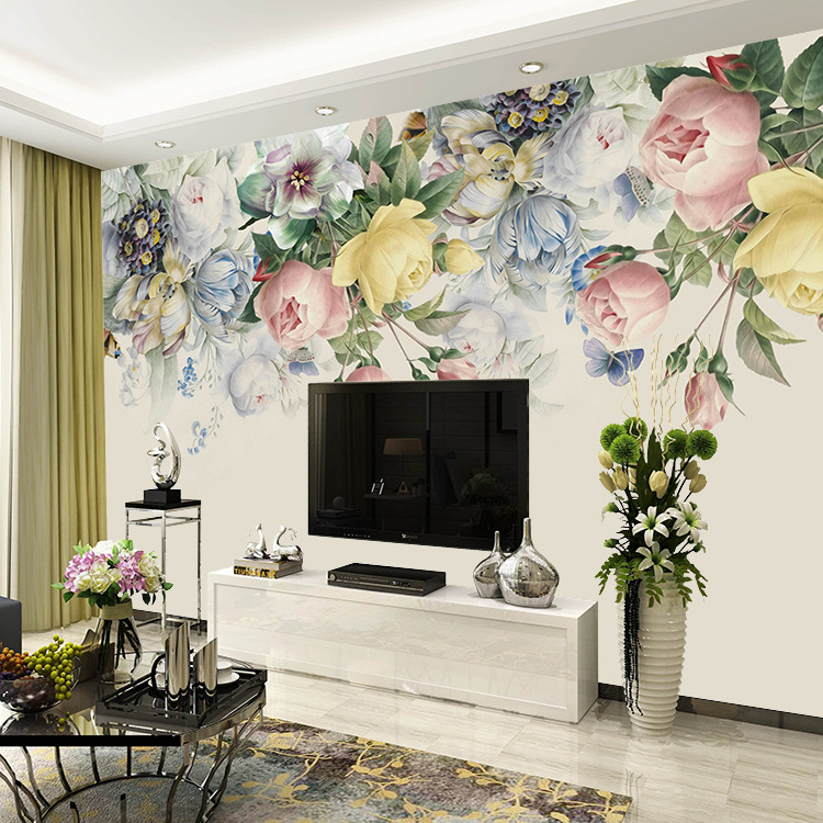 5d stereo murals American style TV background wall paper 3D simple living room bedroom video wall covering wallpaper waterproof in Wallpapers from Home Improvement