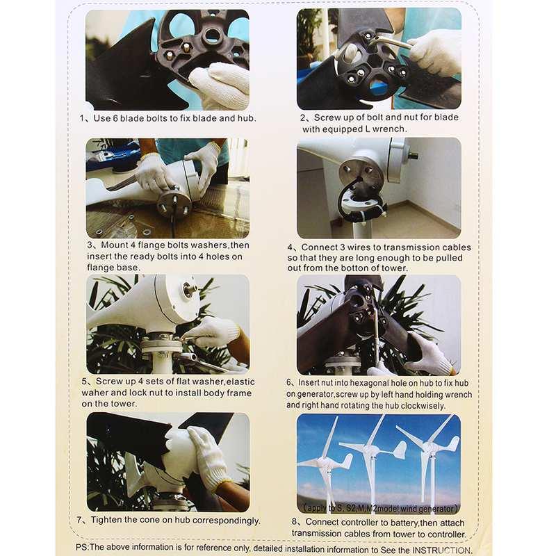 moinho de vento energia turbinas carga para casa ou acampamento