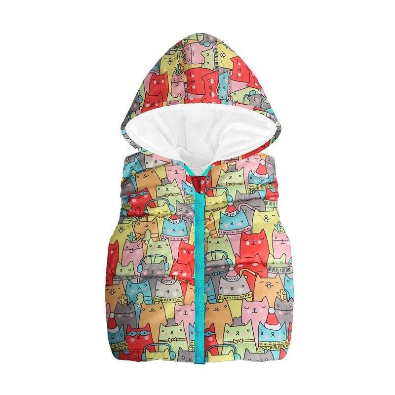 Fleece Children Waistcoat Hooded Baby Boys Coat Fashion Hoodies Boy Vest Tank Tops Kid Outfit Clothing Outwear Sleeveless Jacket 4