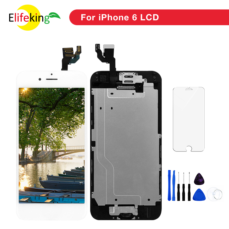 1PCS/Lot Full Set LCD Display For IPhone 6 6 Plus LCD Touch Screen With Digitizer Assembly With Home Button & Front Camera