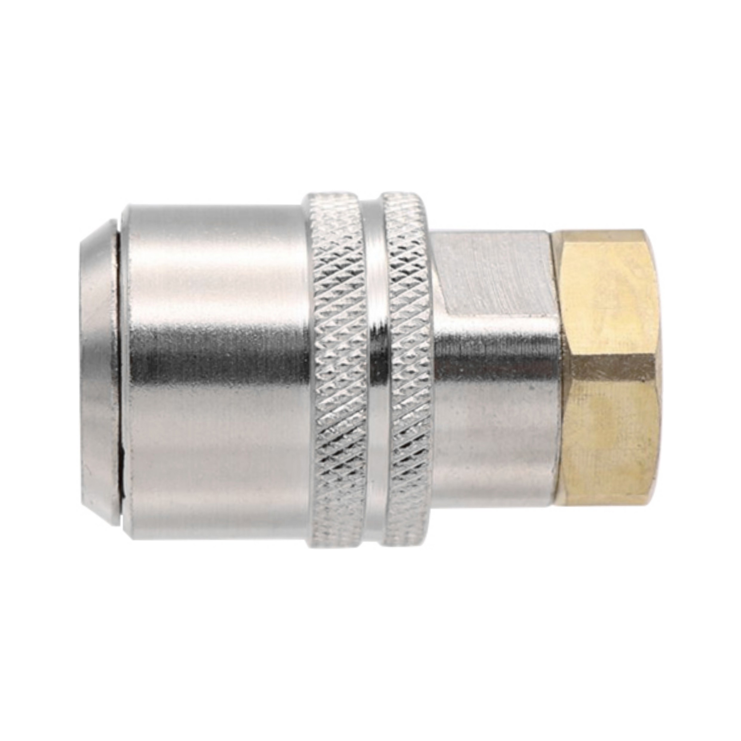 Large Bore Lock On Air Chuck Closed End Nickle Plated Brass 1/4