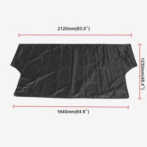 Image 3 - مظلة السيارات العالمية غطاء مع المغناطيس السيارات الأمامي الزجاج الأمامي شمسي نافذة السيارة ظلة اللون الأسود