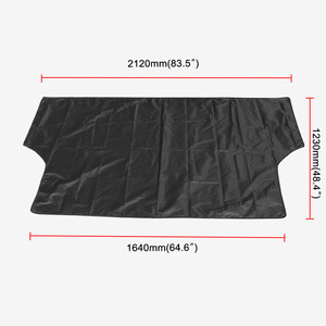 Image 3 - Universal Car Sunshade Cover with Magnet Auto Front Windshield Sunshades Car Window Sunshade Black Color