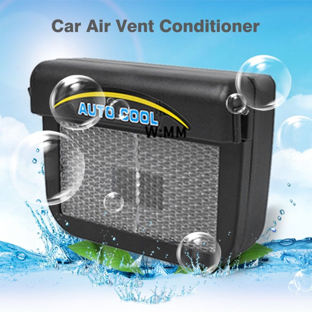 Onever Solar Sun Power Mini Air Conditioner For Car Car Window Auto Air Vent Cool Fan Portable Car Air Conditioner Ventilation