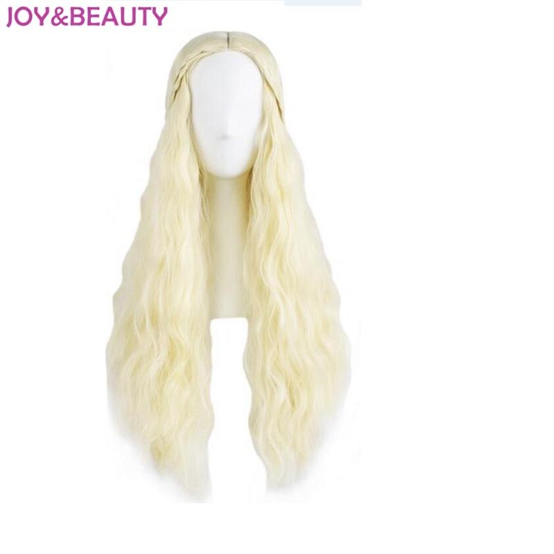 Glädje och skönhet Daenerys Targaryen Wig Dragon Princess Game of - Syntetiskt hår