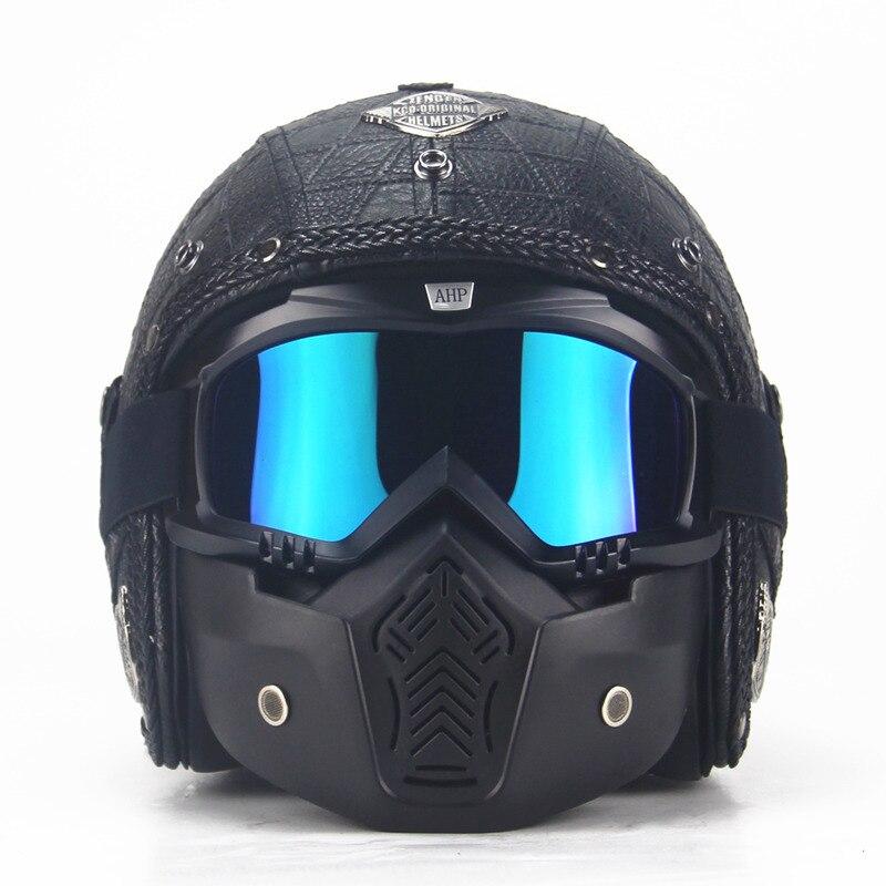 Motocrosshjälm Mask Avtagbar glasögon och munfilter Perfekt för - Motorcykel tillbehör och delar - Foto 3