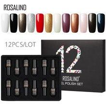 12 шт./лот набор гель-лаков ROSALIND 7 мл стойкий однотонный маникюрный набор для дизайна ногтей необходимо базовое и верхнее покрытие набор гель-...