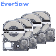 5pk/lot High quality compatible SS12KW/LC-4WBN/LC-4WBN9 label tape for LW300 and LW400