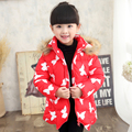 New Style 2017 Baby Girls Winter Coats Jacket collar Children Outerwear Warm Thickening Windproof Kids Down Coats Parkas