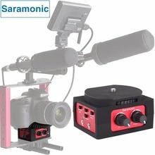 Saramonic SR-AX101 2-kanal Audio Mixer Mikrofon Adapter mit XLR & 3,5mm Inteface für Canon Panasonic DSLR Kamera & Camcorder