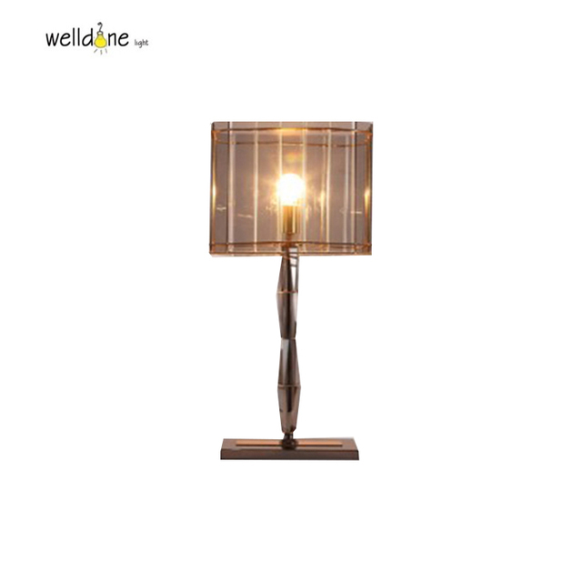 Pleasing Us 108 0 20 Off Led Modern Table Lamp Chrome Color Metal With Crystal Lighting Fixture For Bedroom Living Room Square Glass Shade Lamp In Desk Lamps Download Free Architecture Designs Grimeyleaguecom