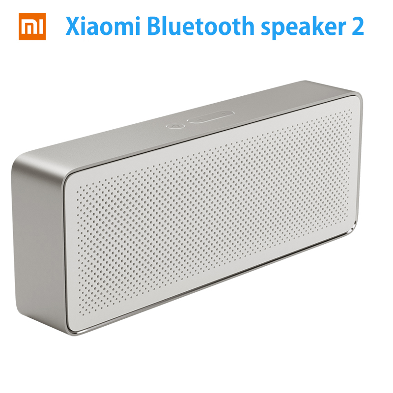 Original Xiaomi Mi Bluetooth Speaker Square Box 2 Xiaomi Speaker 2 Square Stereo Portable V4.2 High Definition Sound Quality колонка xiaomi mini square box 2 blue