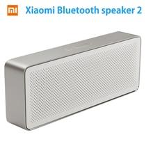 Orijinal Xiaomi Mi Bluetooth Hoparlör Kare Kutu 2 Xiaomi Hoparlör 2 Kare Stereo Taşınabilir V4.2 Yüksek Çözünürlüklü Ses Kalitesi