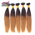 Wholesale 5 pcs Brazilian Hair Ombre Natural Straight Brazilian Virgin Human Hair Bundles Double wefts Full ends no shedding
